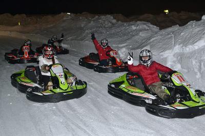 Kart sul ghiaccio al Passo del Tonale